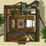 Master Suite: Top Level Floor Plan